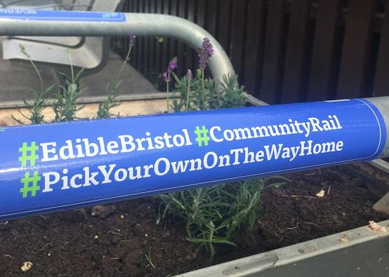 IE Bristol community railway sign
