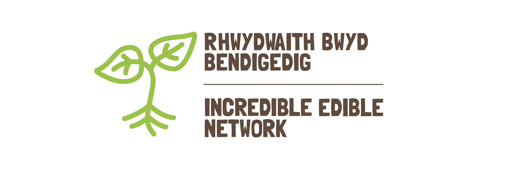 Incredible Edible network Welsh/English dual language logo